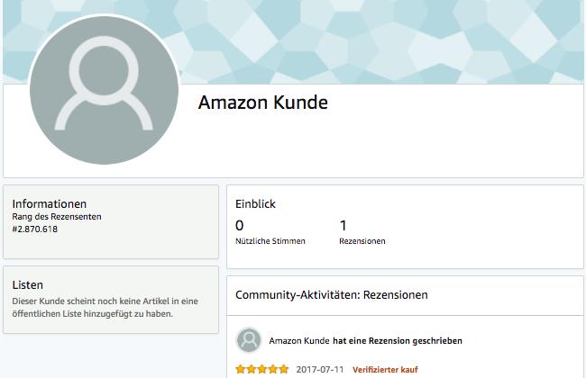 Profil fakebewertung auf Amazon
