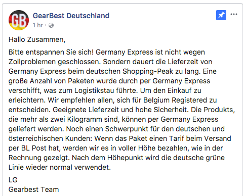 germany express offizielles statement