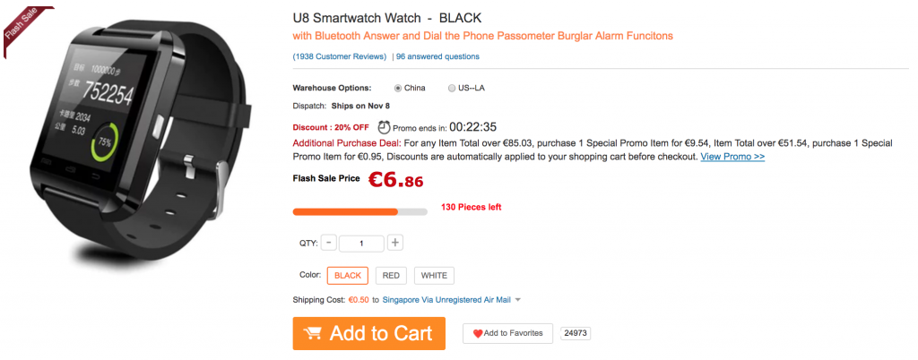 u8 smartwatch billig