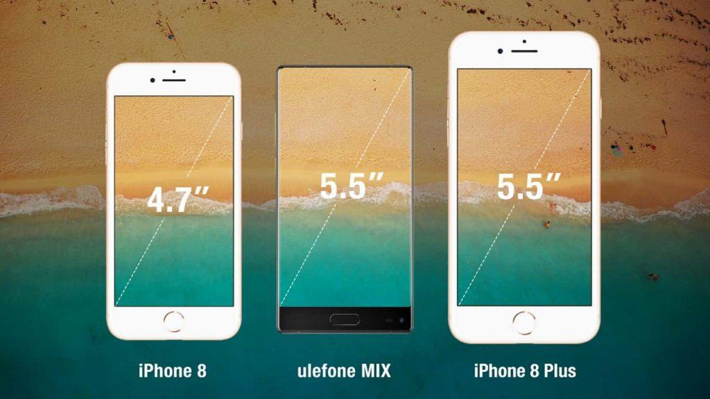 ulefone mix vergleich iphone