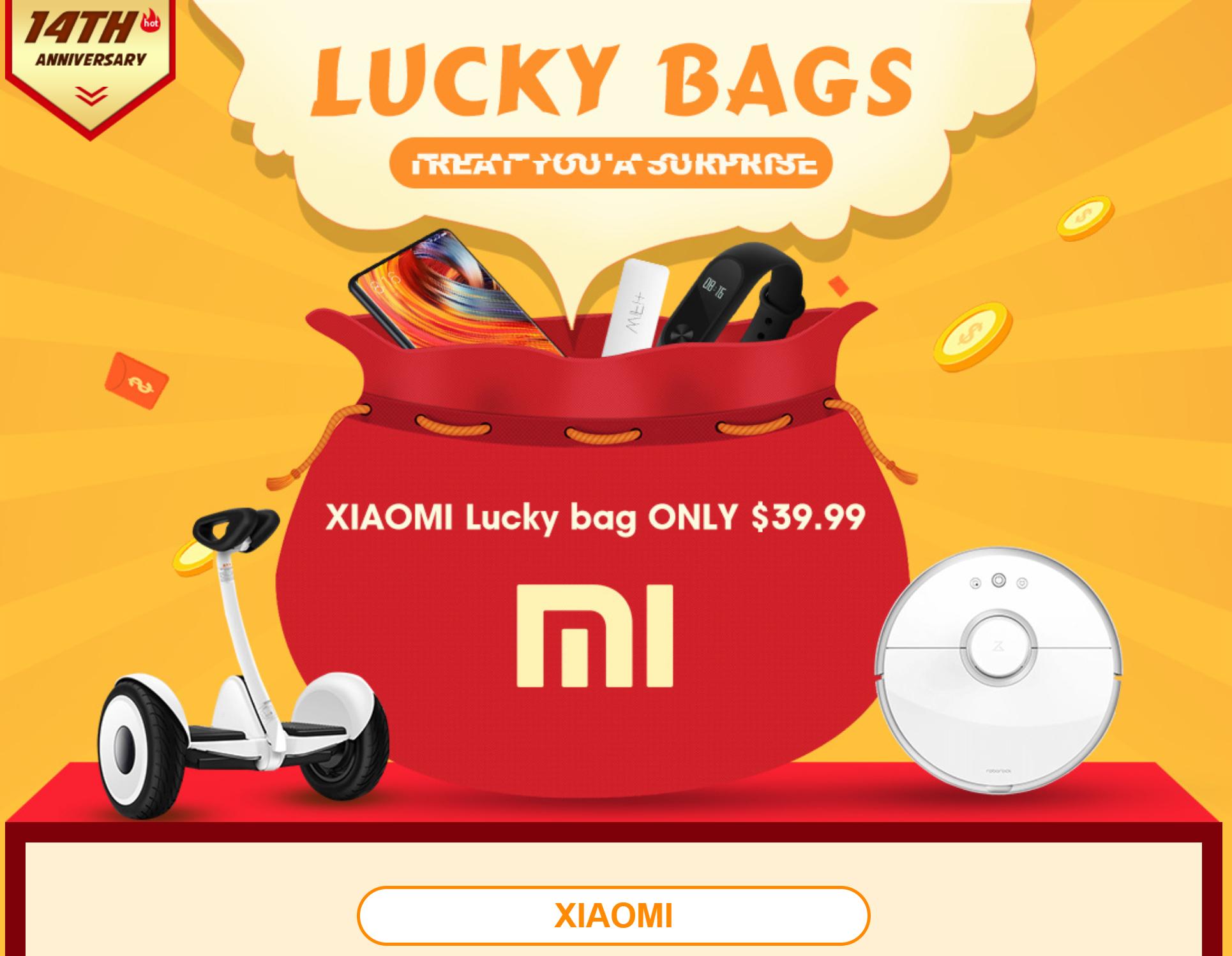 Xiaomi Lucky Bag Gewinn