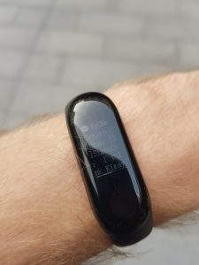 xiaomi mi band 3 nachricht display notification