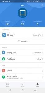 xiaomi mi band 3 mi fit app