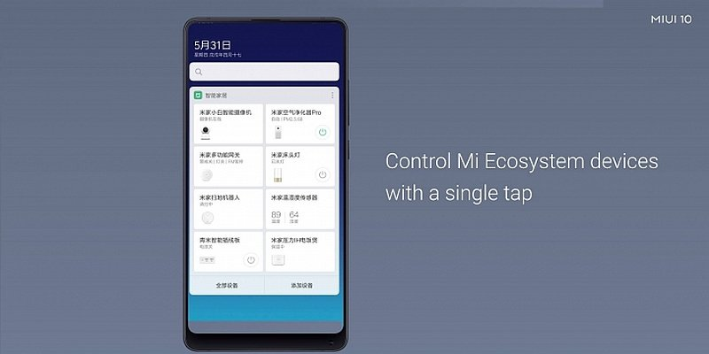 xiaomi miui mijia und smarthome kontrollzentrum