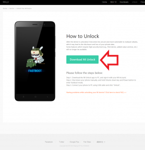 Xiaomi Unlock Tool download