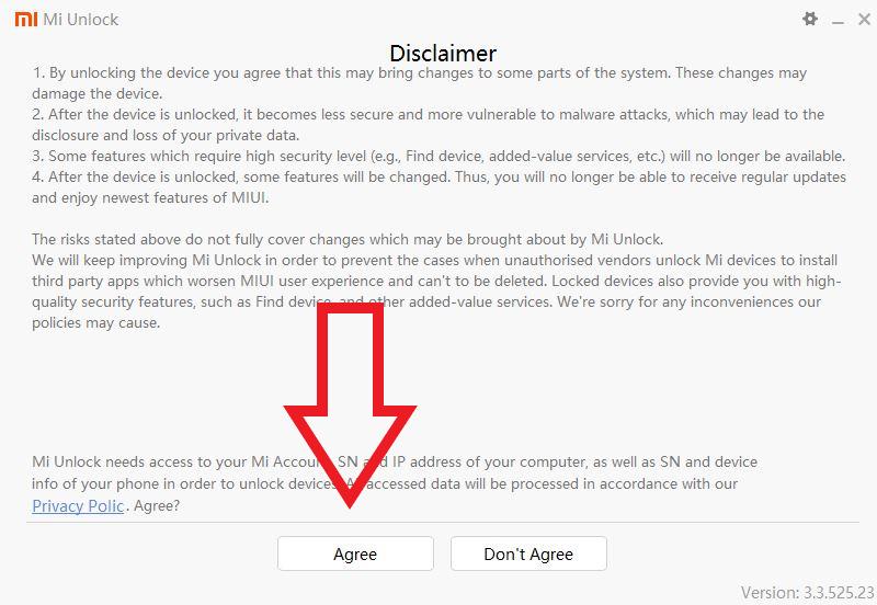 Xiaomi Disclaimer Aktivieren