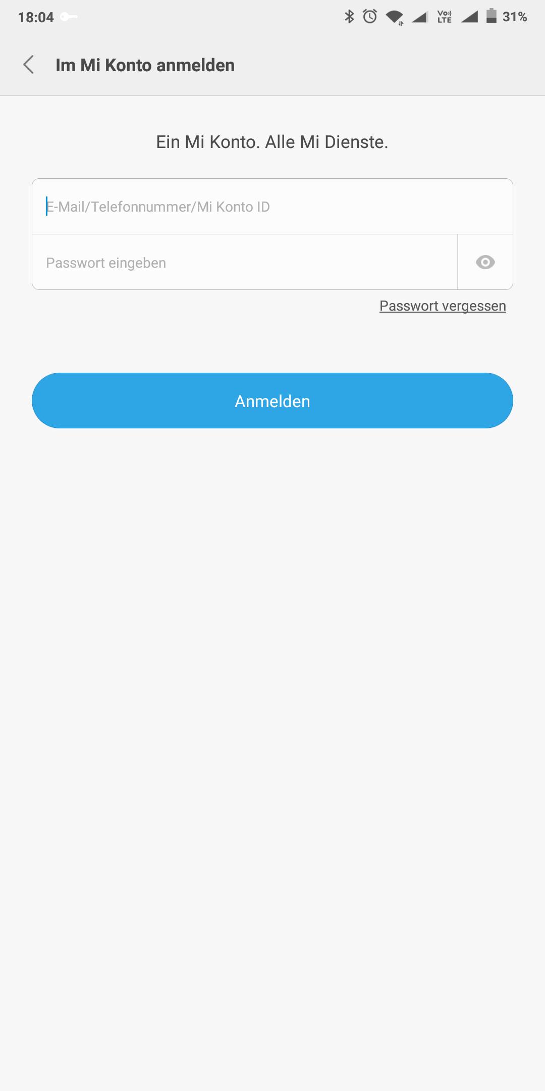 Xiaomi Mail Einloggen