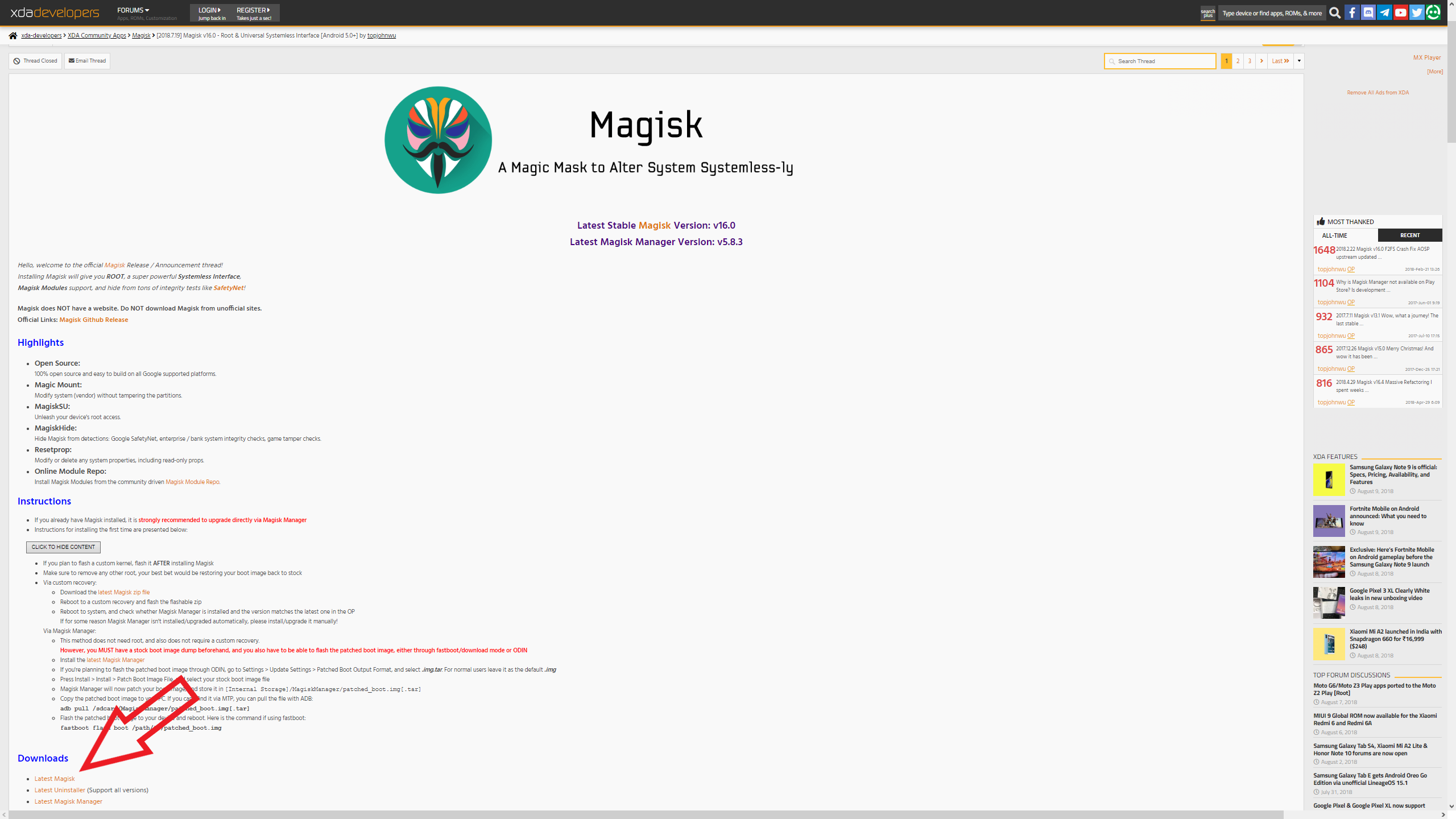 Download Magisk Zip