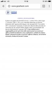 gearbest in italien zensiert verstoß gegen tabak werbegesetze