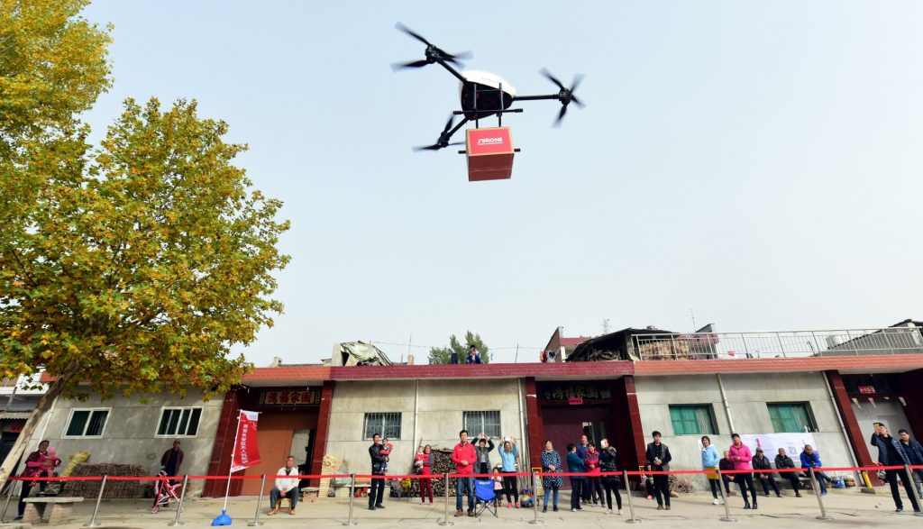 China Flug jd.com autonom Drohne