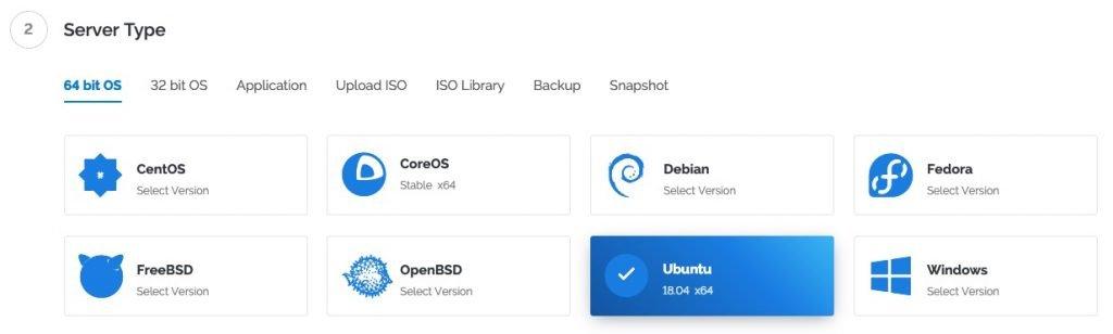 shadowsocks vultr vpn ubuntu OS auswahl
