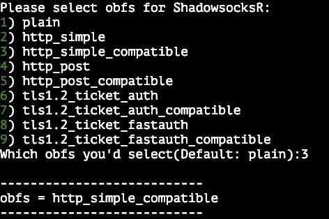 shadowsocks server einstellungen obfuscation