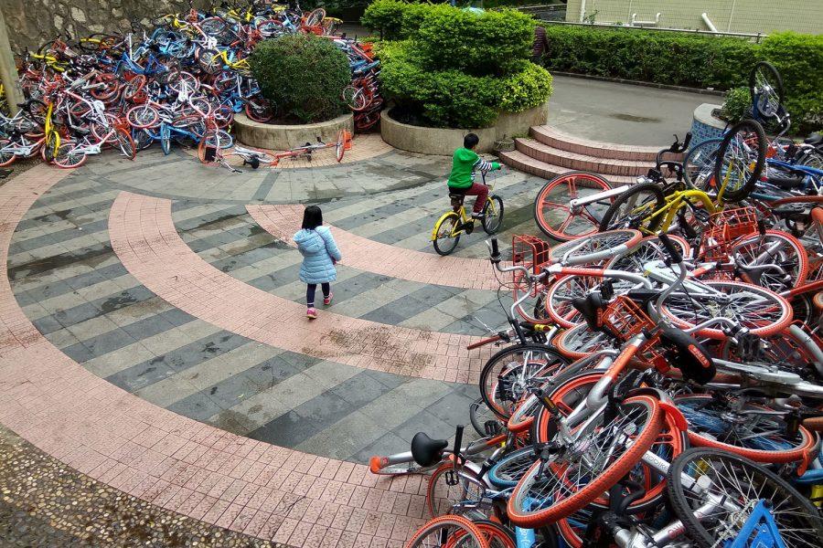 xiashan park shenzhen leihfahrräder zerstört
